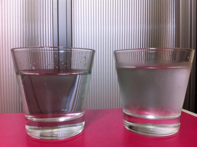 クリクラと水道水の冷たさを比較